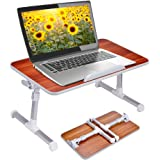 Adjustable Laptop Bed Table, Portable Standing Desk, Foldable Sofa Breakfast Tray, Notebook Stand Reading Holder Floor for Co