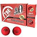TOBIEMON(トビエモン) ゴルフボール 飛衛門 2ピース 蛍光マット 1ダース(12個入り) レッド T-B2MRE