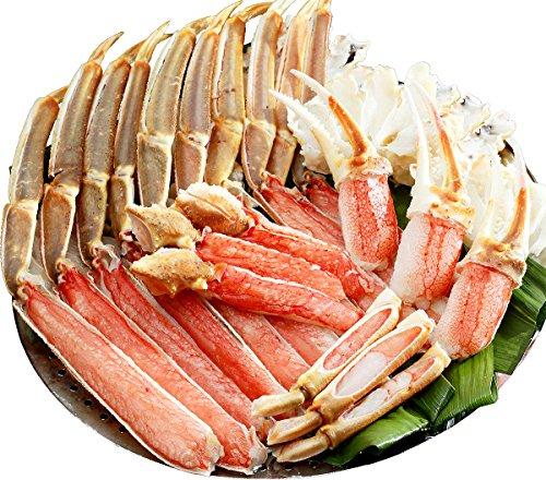 甲羅組 カット 生 ズワイガニ 1kg 特大&極太サイズ かに刺し カニ鍋 カニしゃぶ 焼き蟹 用 約4人前 御中元 ギフト