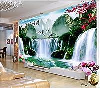 Lwcxカスタム壁画3dフォト壁紙Alpine滝水Cranes部屋装飾絵画3d壁壁画3d壁紙の壁 FEAF578843