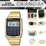 CASIO カシオ CALCULATOR カリキュレーター CA-506G-9A 人気 CA506シリーズ イエローゴールド 金色 データバンク DATABANK チープカシオ [並行輸入品]