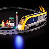BRIKSMAX Led Lighting Kit for City Passenger Train - Compatible with Lego 60197 - Not Include The Lego Set