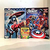 Marvel Avengers &キャプテンアメリカColoring and Activity Book