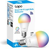 TP-Link Tapo Smart Bulb, WiFi Smart Switch, E27, 8.7W, No Hub Required, Compatible with Alexa (Echo and Echo Dot) and Google