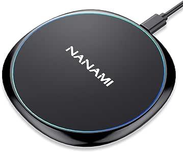 NANAMI ワイヤレス充電器 iPhone X/XS/XR/XS Max/ 8/8 Plus Qi 7.5W急速充電対応 Galaxy S9/S9 Plus/Note8/S8/S8 Plus/S7/S7 Edge/Note 5/S6 Edge Plus 10W対応 Qi認証済み 置くだけ充電 qi 充電器