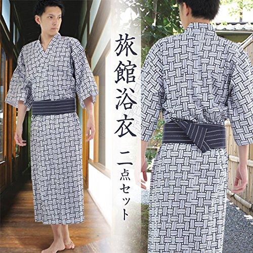 K sera seraメンズ旅館浴衣2点セット (XL)