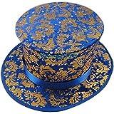 折りたたみトップハット - 葉 - 青 Folding Top Hat - Foliage --Blue -- マジックアクセサリー