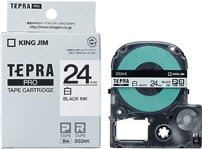 キングジム テープカートリッジ テプラPRO 24mm SS24K 白 1個