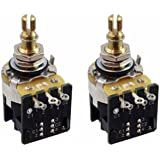 CTS 500K Push Pull Short Shaft Audio Taper Potentiometers - Pair (2X)