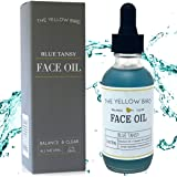 Balancing Blue Tansy Face Oil – Skin Glowing Serum. Anti Aging Collagen Support. Acne Fighting Dark Spot Corrector. Wrinkle &