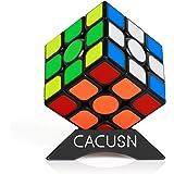 CACUSN 磁石キューブ 【磁石内蔵】 M4.0 競技用キューブ 3x3x3 プロ向け 達人向け 中級者向け ステッカー 世界基準配色 マグネット スタンド付き