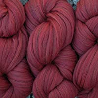 Living Dreams Yarn Merino Super Bulky Wool Yarn for Needle Knitting and Crochet 毛糸 超極太 Claret 110g 約60m