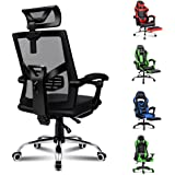 ALFORDSON Mesh Office Chair Gaming Executive Fabric Seat Racing Footrest Recline (Mesh Black)
