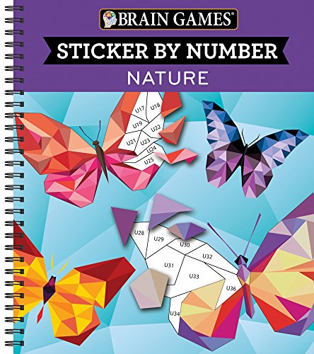 Brain Games Sticker by Number Nature