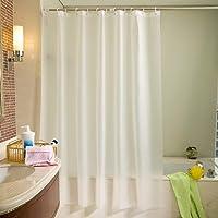 シャワー カーテン 浴室カーテン 洗面所 お風呂 撥水 速乾 軽量 防水 防カビ 加工 フック付属 取付簡単 バスルーム…