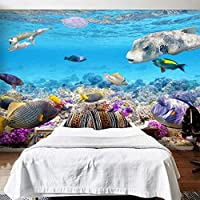 Lwcx HD Underwater World Marine Organism 3dステレオ壁画3d壁紙水族館子供の寝室 FEAF596256