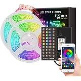 ZeroPlusOne® WaterProof LED Strip Lights 5M Ultra-Long LED Lights Strip Music Sync, SMD 5050 RGB, Bluetooth App Or Control wi
