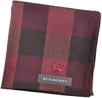(バーバリー) BURBERRY メンズ チェック ハンカチ ボルドー