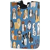 Dog And Puppy Set Laundry Hamper Basket Bucket Cartoon Animal Foldable Dirty Clothes Bag Washing Bin Toy Storage Organizer fo