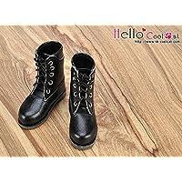 ドール用 coolcat 編上げBCブーツ(ブラック)TY04-1 テヤンサイズ