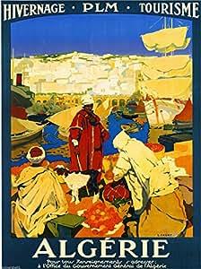アルジェリアチュニジアアフリカ旅行ポスター広告 10x13.5  平行輸入