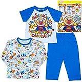 アンパンマン パジャマ 長袖 半袖 2トップス パジャマ 春物 夏物 子供用 Anpanman j-sa2912 80cm ブルー