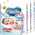MamyPoko Air Fit Tape, Newborn, 90 Count, (Pack of 3)