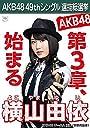 【横山由依 AKB48 チームA】 AKB48 願いごとの持ち腐れ 劇場盤 特典 49thシングル 選抜総選挙 ポスター風 生写真