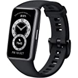 """HUAWEI Band 6 - All-day SpO2 Monitoring, 1.47"""" FullView Display, 2-Week Battery Life, Fast Charging, Heart Rate Monitoring, S"""
