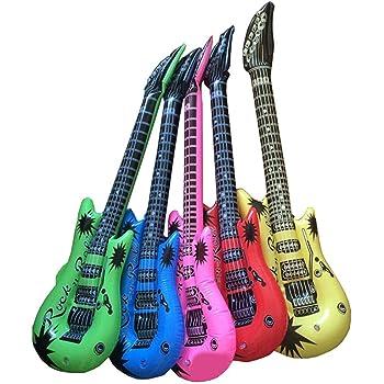 53cebd92bdd78 5PCS 楽器おもちゃ 玩具 子供 ギター マイク サックス 誕生日プレゼント 装飾品 色ランダム パーティー
