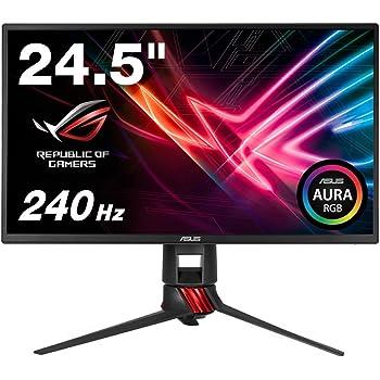 ASUS ゲーミングモニター 24.5インチ ROG STRIX XG258Q( HDMI 2ポート/DP/1ms/240Hz/FreeSync/フリッカーフリー/ブルーライト軽減/昇降ピボット)