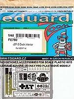 エデュアルド 1/48 ズームシリーズ グラマン J2F-5 ダック 内装パーツセット メリット用 エッチングパーツ EDUFE780
