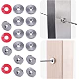 """Muzata 20Pack Cable Railing Protector Sleeve Adhesive Grommet Protective Plug T316 Stainless Steel for 1/8"""" Wood Metal Post W"""
