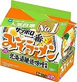 サッポロ一番 みそラーメン 北海道醸造味噌使用 5食パック 520g ×6箱