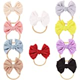 DANMY Baby Rabbit Ears Headband Girl's Elastic Soft Turban Bow Cotton Cloth Hair Band