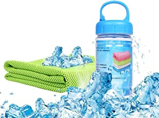 Beoborn 冷却タオル速乾タオル 超冷感 クール スポーツタオル 熱中症対策 超速乾 超吸水タオル