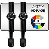 JYXETOV 結ばない靴紐、伸縮性靴ひも、追加の贈り物を(19色で、1足分、2足分または3足分を自由に選択できる)お子様、大人、高齢者、カジュアルシューズ、運動靴、ブーツなどに適しています