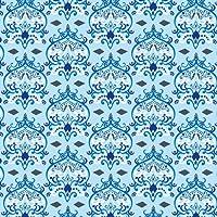 Caden Lane Luxe Collection Damask Single Sheet, Blue by Caden Lane