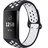 BATINY Bands Compatible with Fitbit Charge 4 / Charge 3 / Charge 3 SE Bands Men Women Extra-Large Silicone Soft Replacement S