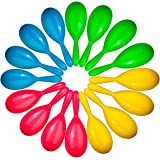 Neliblu Add Life to The Party, 24 Neon Maracas, Bright and Colorful Party Favors, Noisemaker for New Years Party, Neon Maraca