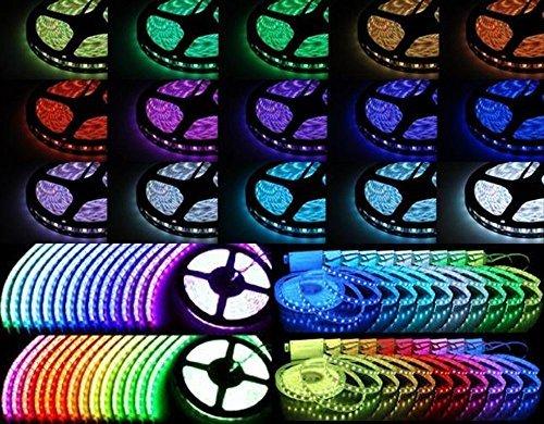 Zeroshop 超 高輝度 LEDテープライト 白 ベース 5m 150連 防水 フルカラー RG...