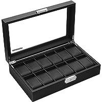 SOUKENGEN 腕時計収納ケース 収納ボックス コレクションケース 鍵付き ディスプレイ 収納 保管 ガラス天板 鍵…