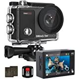 Dragon Touch Vision 3 Pro Action Camera 4K Touch Screen Sports Camera Adjustable View Angle 100 feet Underwater Waterproof Ca