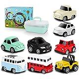 Tagitary ミニカー 知育おもちゃ 8種類 プルバック式 マップ 収納ボックス付き 誕生日プレゼント 子供用おもち…