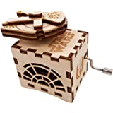 Rotating Music Box Hand Crank Star Wars Musical Box Carved Wood Musical Gifts