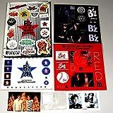 B'z ステッカー クリップ 7種セット[声明/RED/LIVE-GYM/The Ballads]
