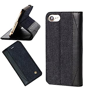 iPhone 7 ケース 手帳型 デニム アイフォン7カバー 財布型 マグネット スタンド機能 カードポケット 耐摩擦 耐汚れ 全面保護 フリップ 人気