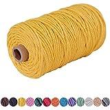 Ann Bully Macrame Cord DIY Natural Yarn Cotton Macrame Rope 3mm Cotton Cord Cotton Yarn Twine String Cord for DIY Wall Plant