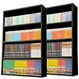 山善(YAMAZEN) 【2個組】 マンガぴったり本棚カラーボックス CMCR-9060(DBR)*2 ダークブラウンの写真