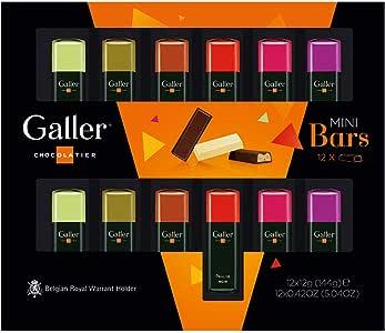Galler (ガレー) ベルギー王室御用達 チョコレート ミニバー 12本入 2020年限定パッケージ (1箱)